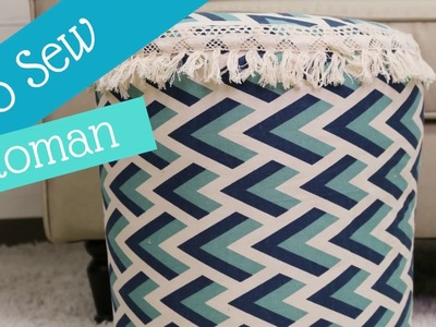 How-To Make a No Sew Bucket Ottoman