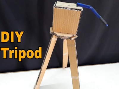 How to Make a Tripod from cardboard| DIY Tripod| CrazyF India