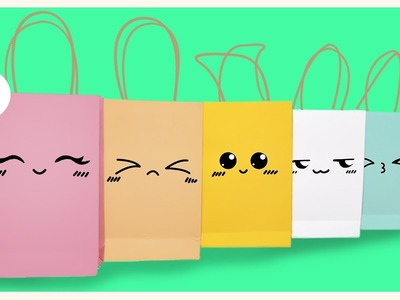 HOW TO MAKE KAWAII PAPER BAG DIY [TUTORIAL]