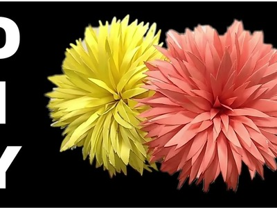 How to make paper flower || Diy paper flower tutorial