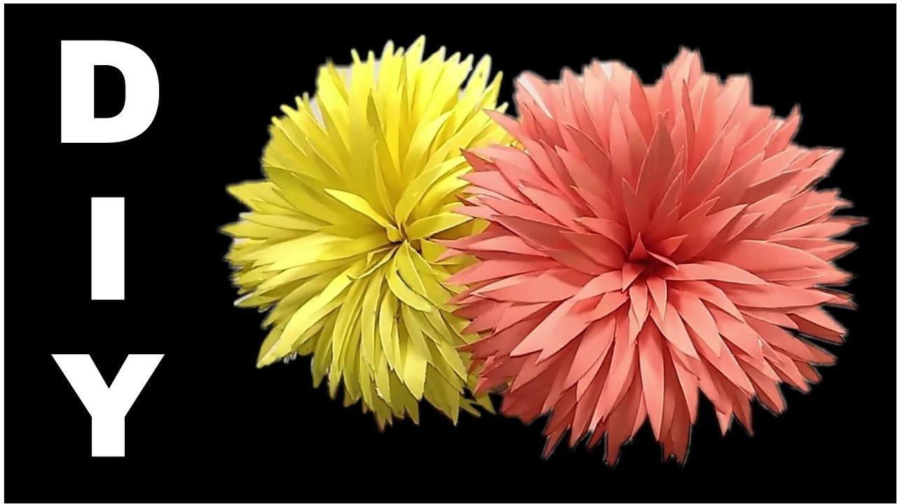 How to make paper flower    Diy paper flower tutorial