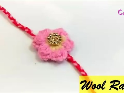 How to make rakhi at home | wool flower rakhi | rakhi making | rakshabandhan |