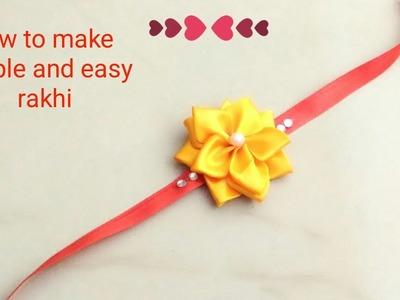 How to make Rakhi   DIY: Rakhi   how to make Rakhi at home   Rakhi for kids   DIY : Friendship band