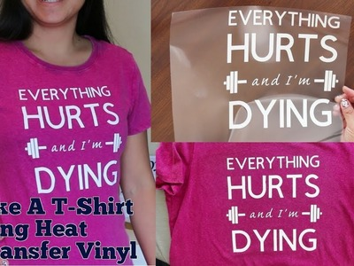 How to Put Heat Transfer Vinyl (HTV) on T-Shirt | DIY | Make Your Own T-Shirt