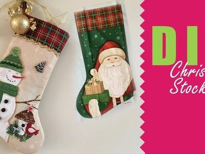 How to sew a Christmas stocking | HANDMADE DECOR