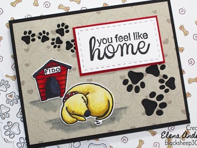 Love Card For Dog Lovers with Elizabeth Craft Designs
