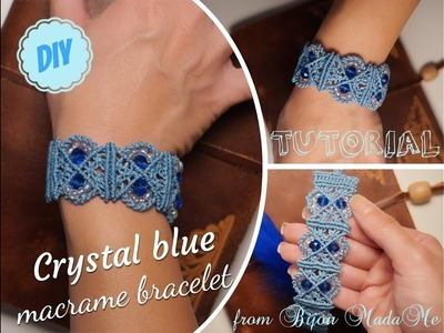 Macrame tutorial. Make macrame bracelet with beads. DIY macrame jewelry. Boho style bracelet.