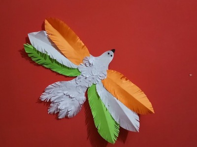 NATIONAL FESTIVAL   REPUBLICDAY  INDEPENDENCE DAY   FLAG CRAFT    TRICOLOUR DECOR IDEA