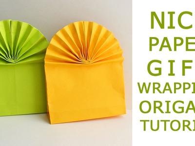 Nice Paper GIFT WRAPPING Craft packaging bag Tutorial DIY