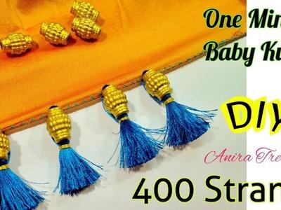 One Minute Baby Kuchu using 400 Strands Big Bead Tutorial DIY silk thread
