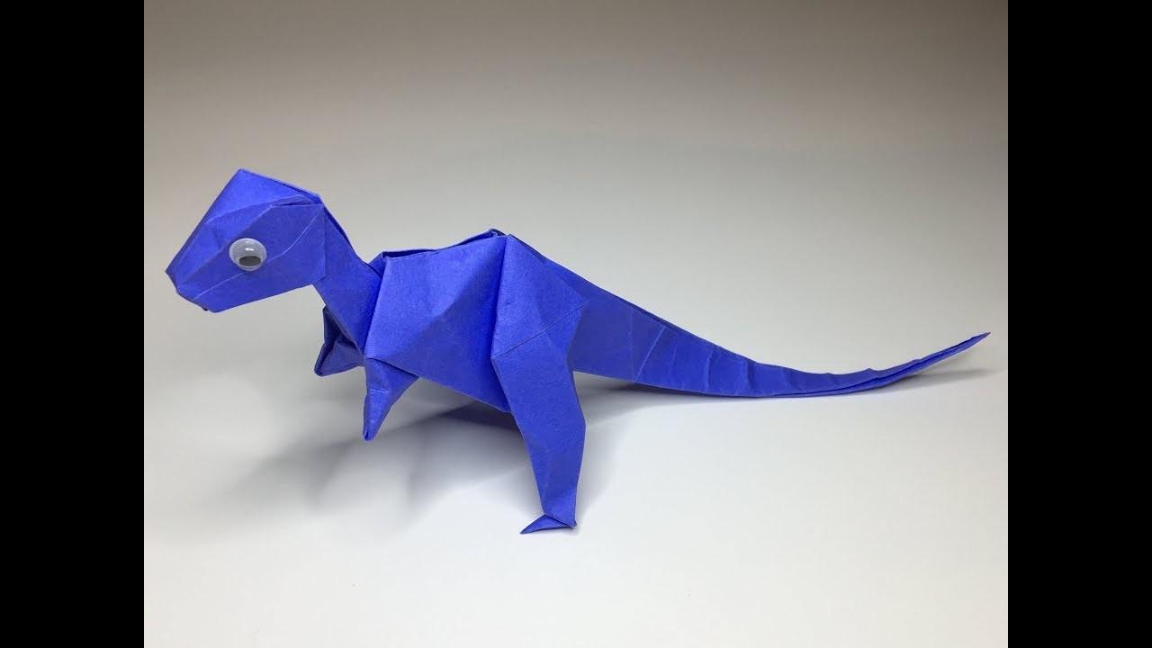 Origami Dinosaur Head Diagrams Craft Velociraptor A To Diy Paper 1280x720