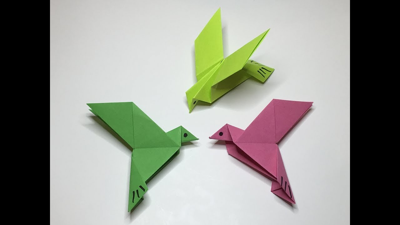 how to make flying bird with paper