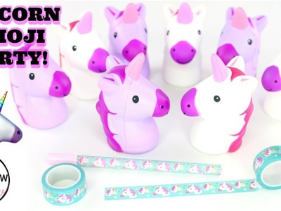 Unicorn Emoji Squishy Collection + Unicorn Craft Tape   Perfect Unicorn Toys for Girls!