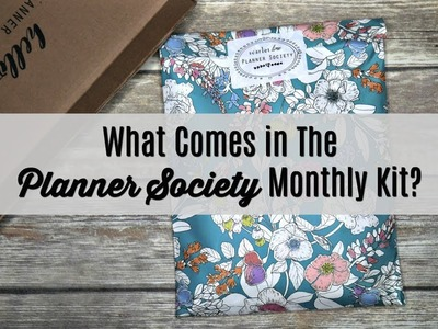 What Comes in the Planner Society Monthly Kit? | Unboxing and Review | The Sensible Mama