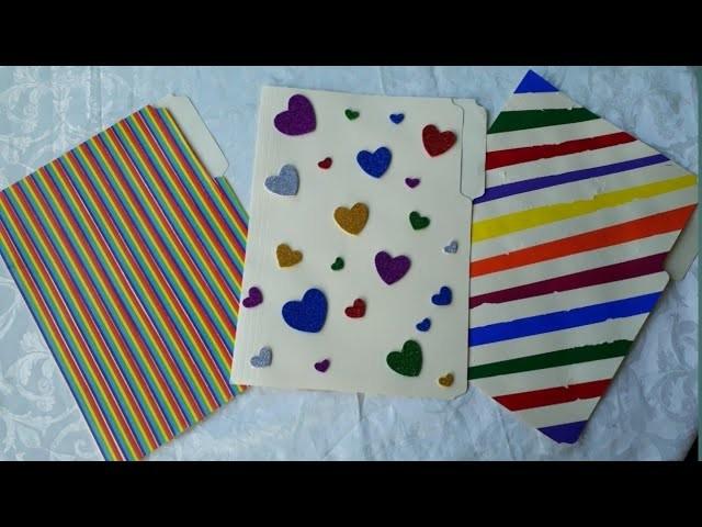 3 Diy Folder Notebook Cover Design Ideas Manilla Folder Crafts