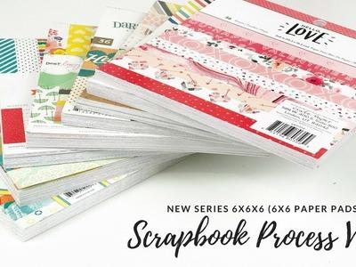 6x6x6 (Paper Pads) | Episode 18 | Scrapbook Process Video | ScrappyNerdUK