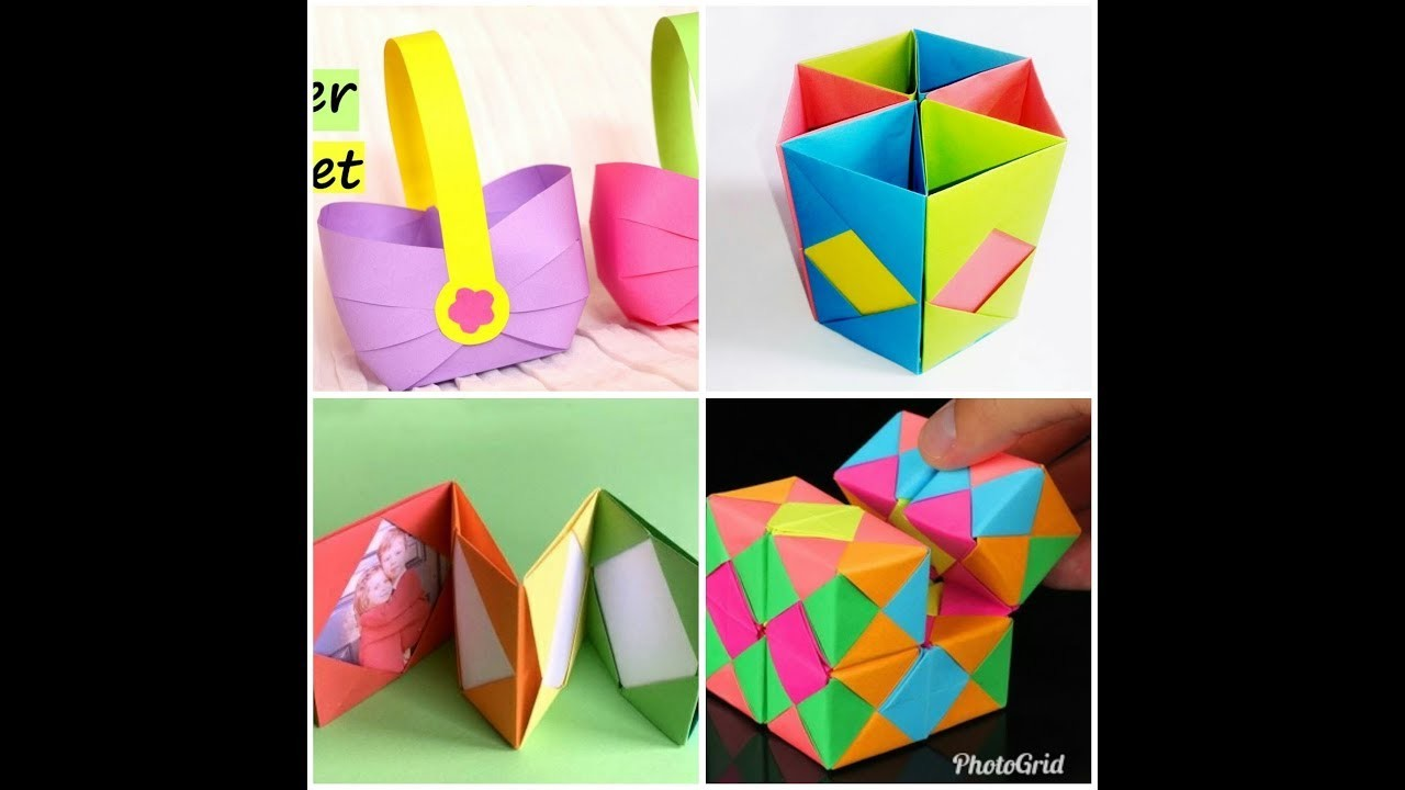 8 Diy Paper Crafts Easy Crafts Ideas At Home Paper Crafts For Kids
