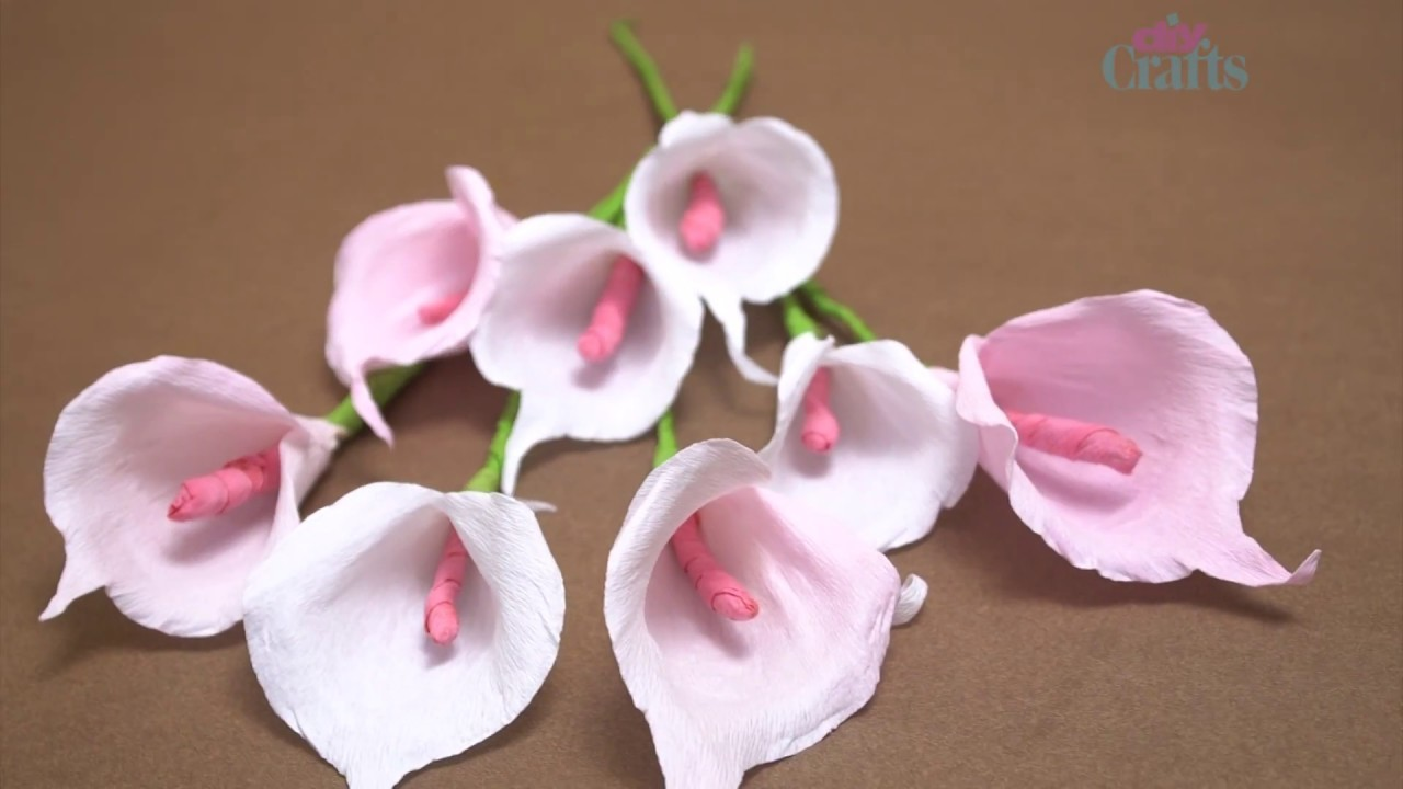 Amazing Idea By Using calla Lily Paper Flower | How To Make Paper Calla Lily | #diycrafts