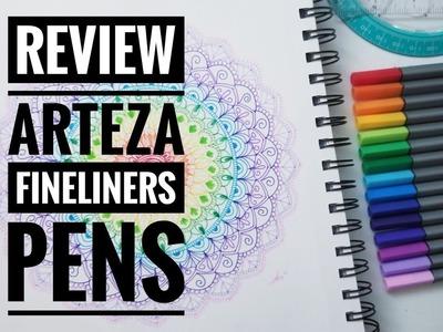 Arteza Review: Fineliner Pens | How to draw mandala with #Arteza colors | Shantal Art