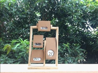 DIY Endless Calendar from Cardboard