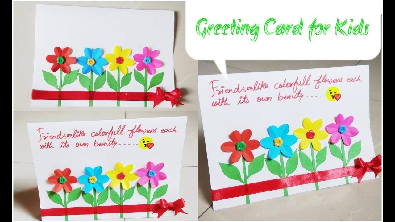 diy greeting card idea for kidsfriendship day cardeasy