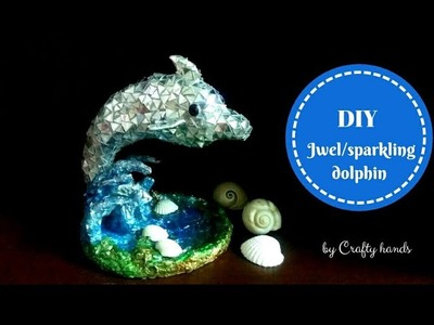 DIY Jwel Dolphin|| how to make dolphin Decorative showpiece from waste materials.