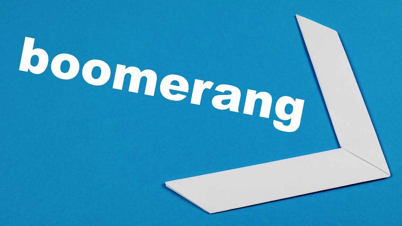 Easy Origami Boomerang  Paper Toys