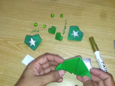 Green Paper Puffy Heart: Origami Paper Art Project For Children for 14 August