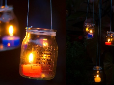Hanging Jar Lights | Garden Lantern Chandelier | DIY Outdoor Lighting Idea
