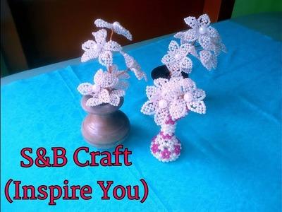 How to make a Bead Flower Bouquet(পুতি দিয়ে ফুলের তোড়া তৈরি)