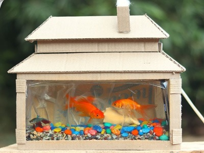 How to Make a Cardboard Aquarium at Home