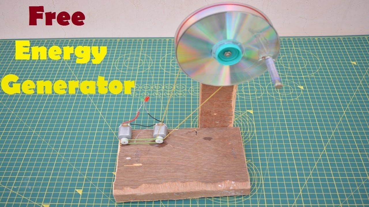 How to Make a Free Energy Mini Generator at Home Using Two