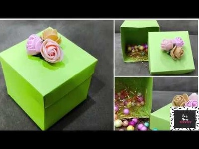How to make a PAPER BOX ? EASY + PRETTY