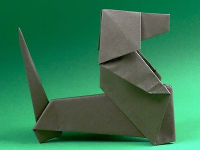 How to make a Paper Dog Tutorial - Origami Dog dachshund
