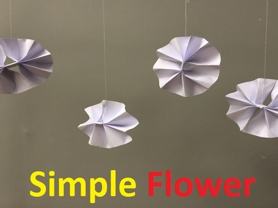 Paper how to make a paper simple flower simple easy paper flower paper mightylinksfo