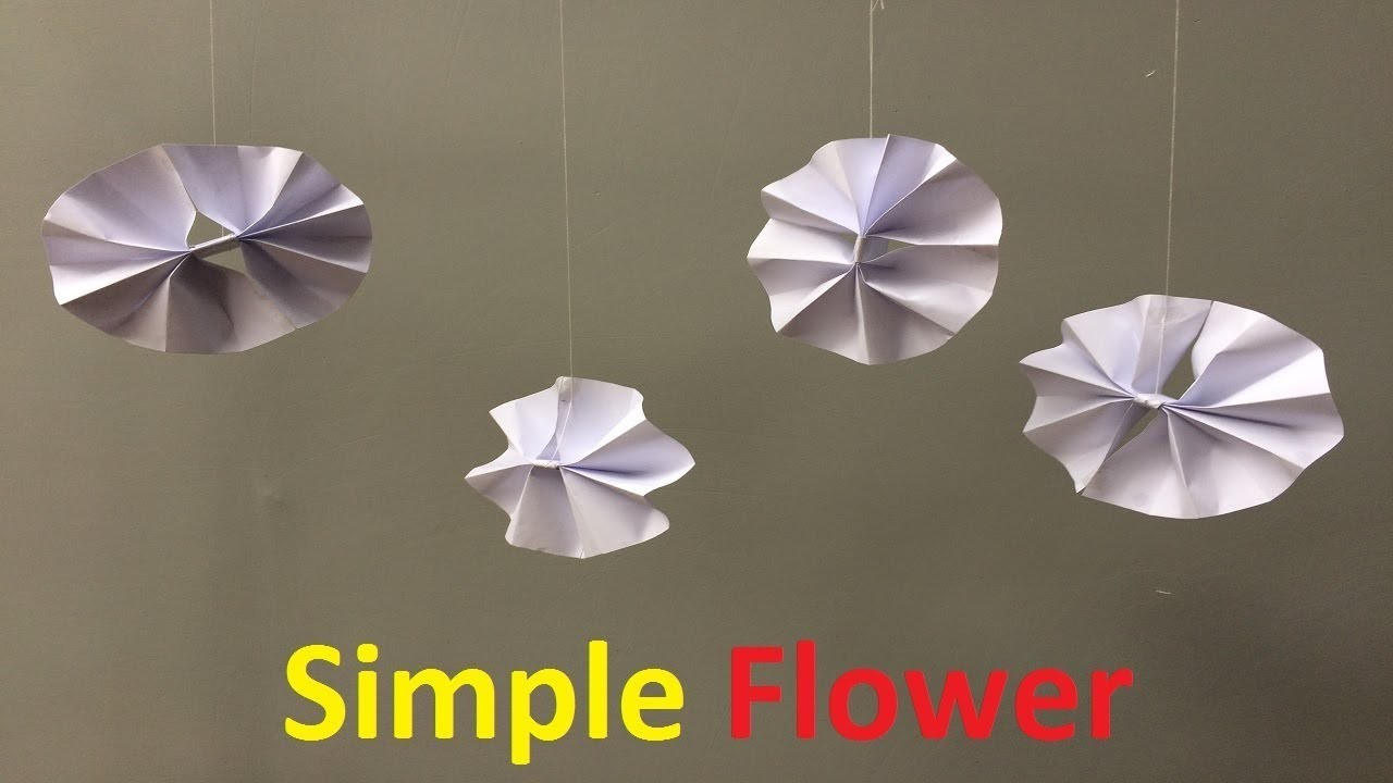How To Make A Paper Simple Flower Simple Easy Paper Flower Easy