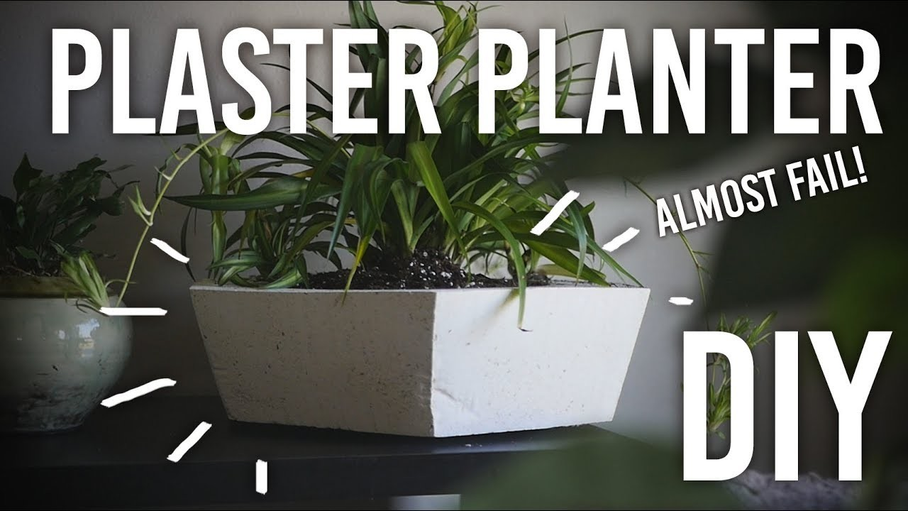 How to Make a Plaster Planter - DIY Almost Fail