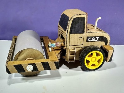 How to make a RC Road Roller from Cardboard