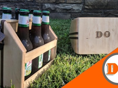 How to Make a Wooden Beer Caddy. Woodworking