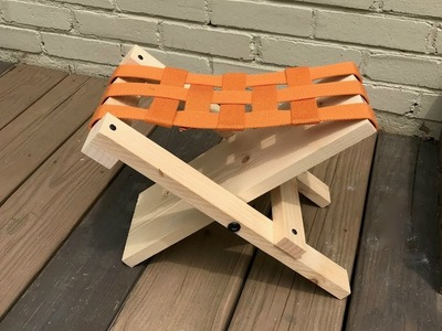 How to make an easy folding stool