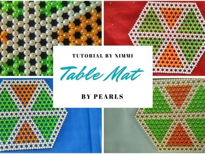 How to make beaded table mat | DIY table mat