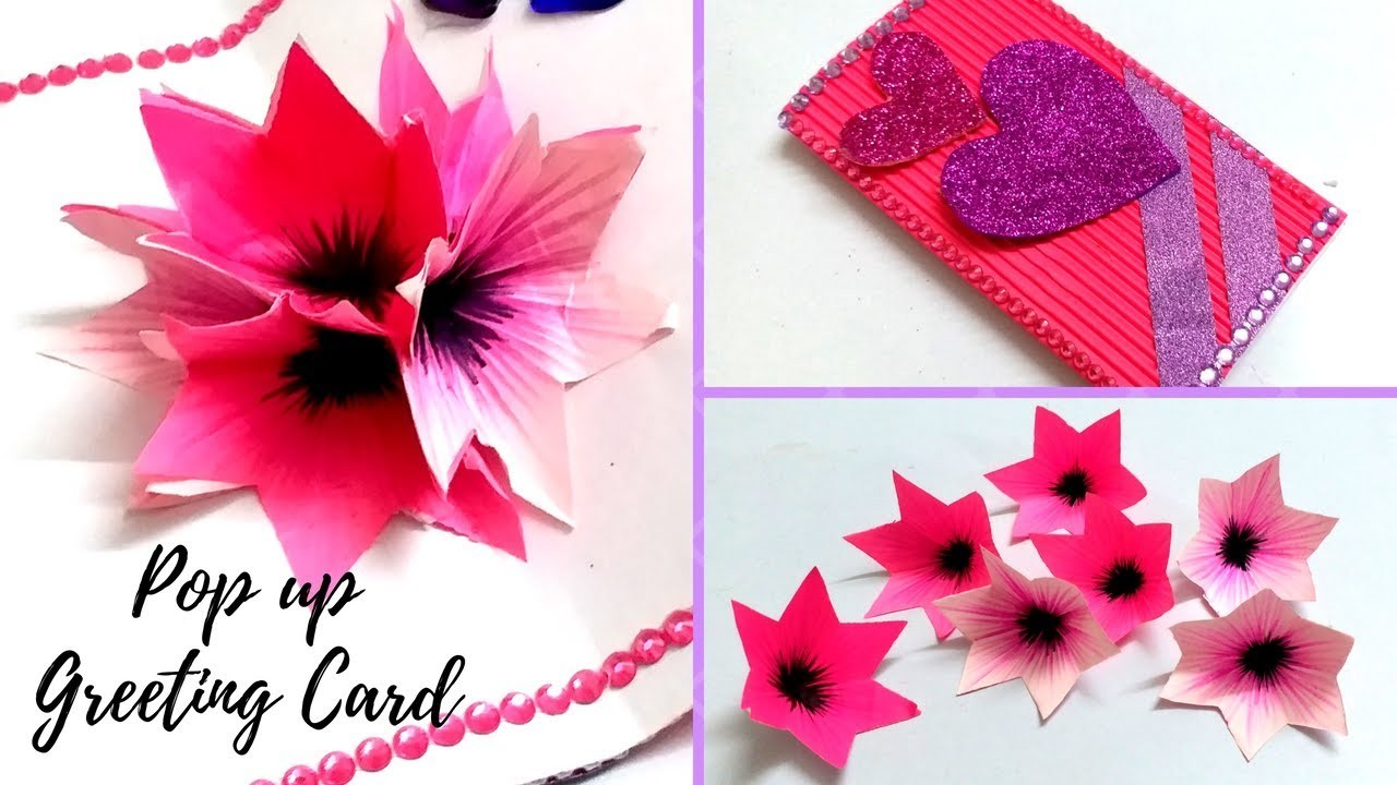 Diy 3d Flower Pop Up Greeting Card Flowers Healthy