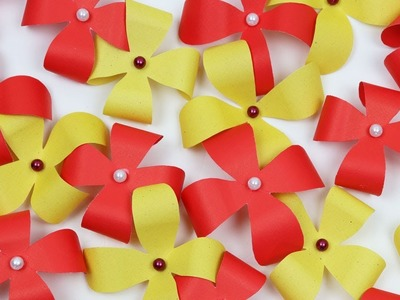 How to Make Easy & Beautiful Small Paper Flowers for Wall Hanging - Wall Hanging Flowers DIY Crafts