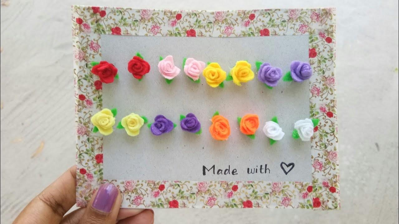 How to make flower earrings