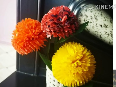 How to make flowers using polythene ! plastic flower decoration