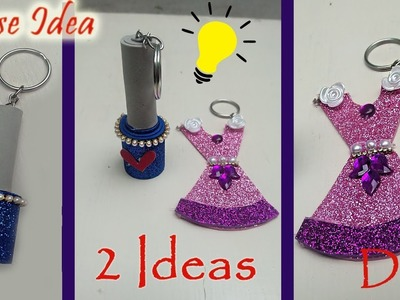 How to make Key Chain Waste material reuse idea  reuse idea Art With Creation