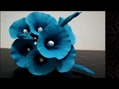 How To Make Morning Glory Flowers From Crepe Paper. Morning Glory Paper Flowers - Malayalam
