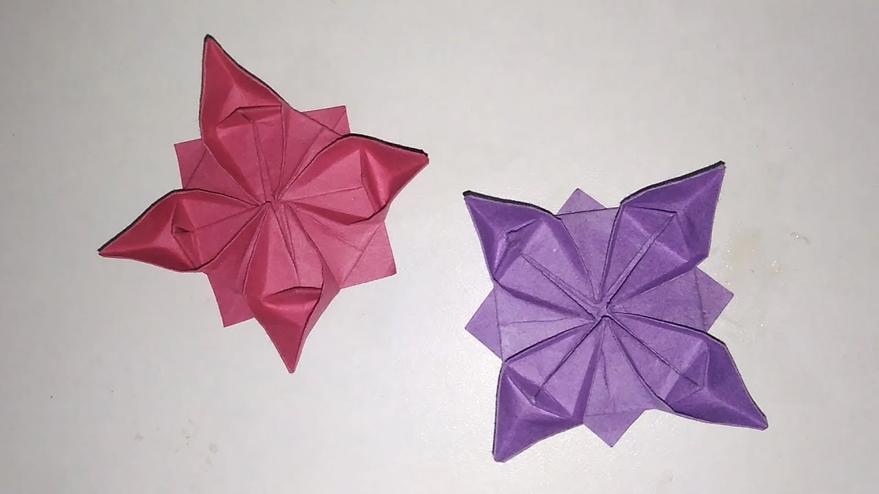 How To Make Paper Flowers Paper Crafts Origami Flowers