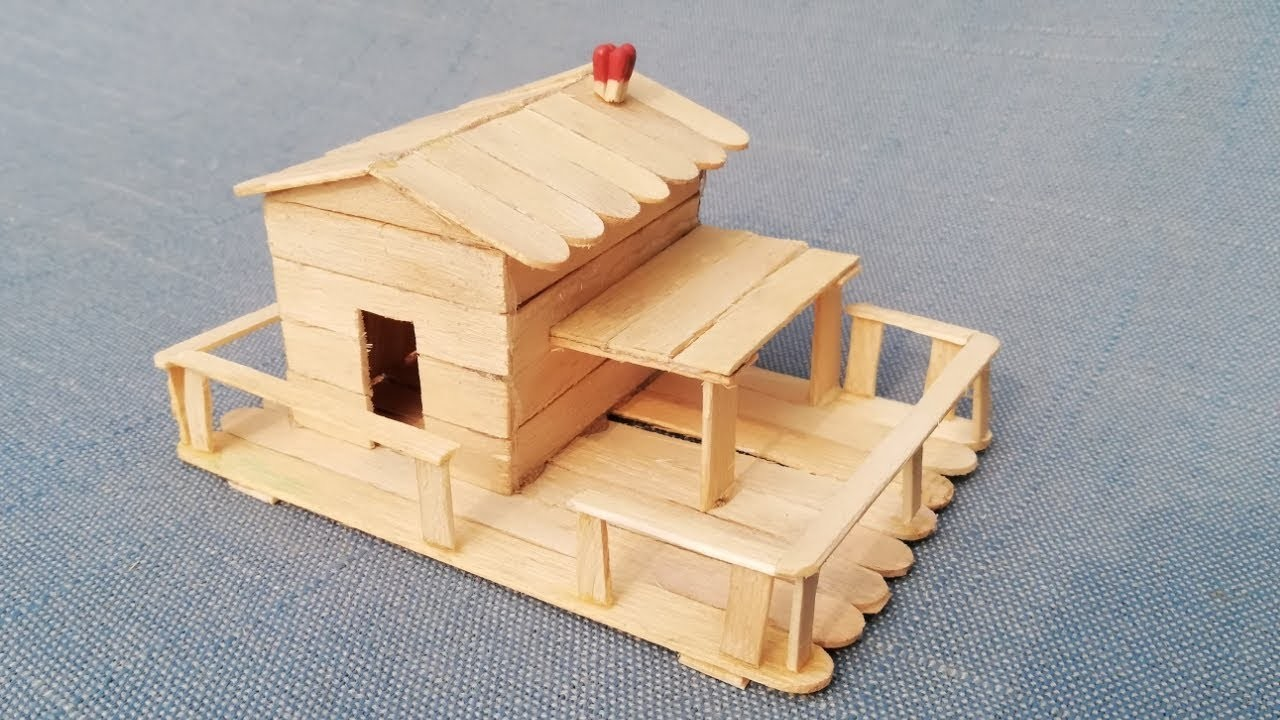 How To Make Popsicle Stick House For Rat At Home Best