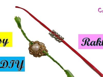 How to make rakhi at home | 2 easy diy rakhi ideas | rakhi making | rakshabandhan | 2 minute ideas